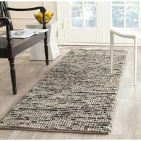 "Safavieh Hand-woven Bohemian Grey/ Multi Wool/ Jute Rug (2'6 x 10') - 2'6"" x 10'"