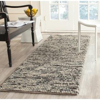 Safavieh Hand-woven Bohemian Grey/ Multi Wool/ Jute Rug (2'6 x 12')