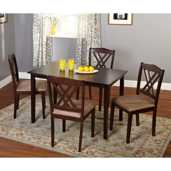Simple living sienna 5 piece dining set free shipping for Living room 5 piece sets