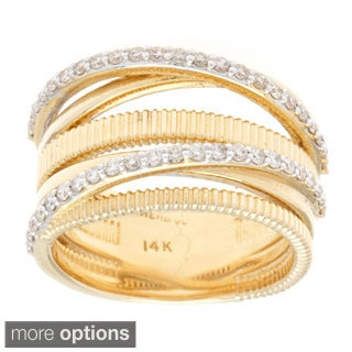 14k Gold 1/2ct TDW Multi-row Diamond Ring