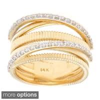 14k Gold 1/2ct TDW Multi-row Diamond Ring