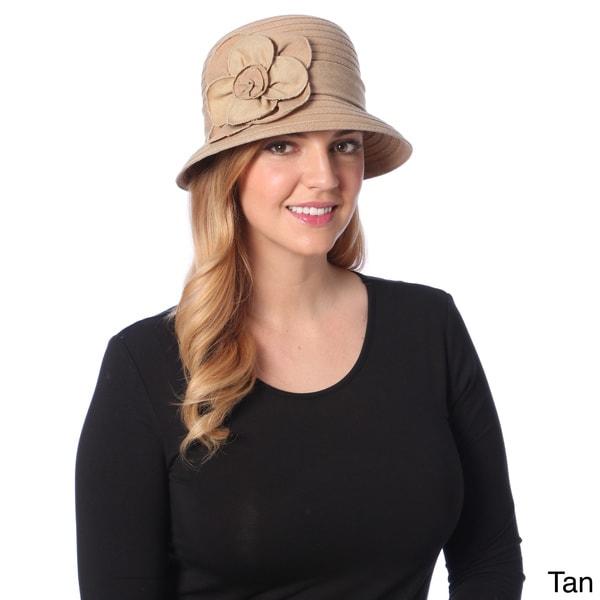 Swan Hat Women's Lightwight Denim Ribbon Packable Bucket Hat