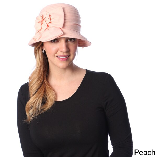 Swan Hat Women's Double Bow Lightweight Denim Bucket Hat