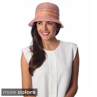 Swan Hat Women's Lightweight Crushable Organza Ribbon Bucket Hat
