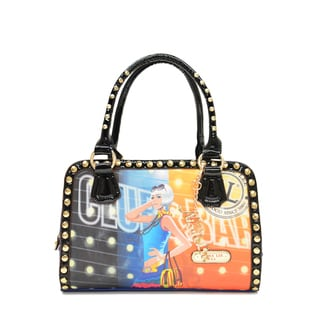 Nicole Lee 'Rocy' City Chic Printed Satchel