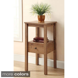 Furniture of America Compact Side Accent Table with Storage Drawer