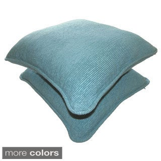 Celebration 'Agra' Ribbed Solid Decorative Pillows (Set of 2)
