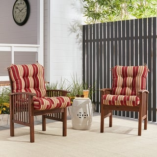 Havenside Home Eastport 21-inch x 42-inch Outdoor Seat/Back Chair Cushion (Roma Stripe - Striped)
