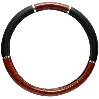 Oxgord Dark Wood Grain Rubber Steering Wheel Cover (2 options available)