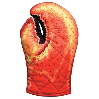 Lobster Claw Quilted Cotton Oven Mitt