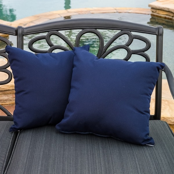 Christopher Knight Home Canvas 17 Inch Sunbrella Outdoor Pillows (Set Of 2)