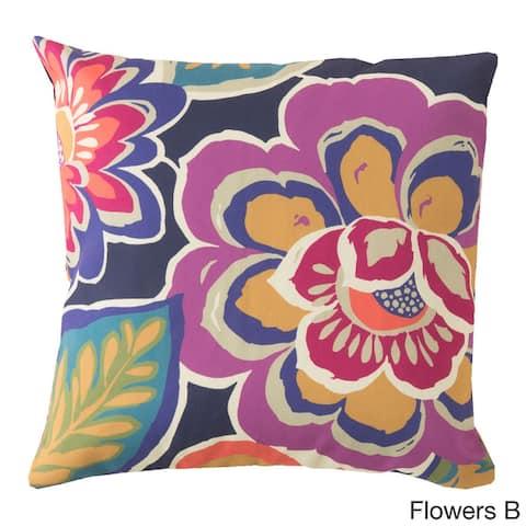Hawaiian Flowers Indoor/ Outdoor Accent Pillow