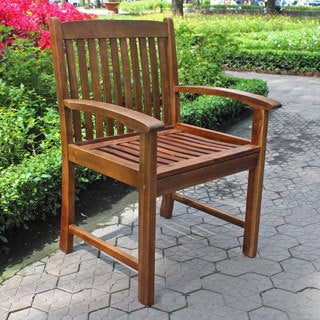 International Caravan Hudson Acacia Hardwood Armchairs (Set of 2)