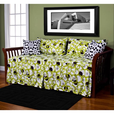 Full Circle Green 5-piece Daybed Ensemble