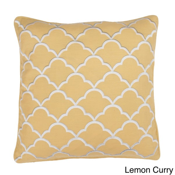 18x18 Faye Embroidered Feather Fill Pillow