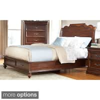 'Senator' Dark Brown Sleigh Bed with Optional Storage by Greyson Living