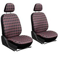 Oxgord Exquisite Plaid Checkered Bucket Seat Cover 2-piece Set