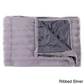 Plush Reversible Mink Faux Fur Throw