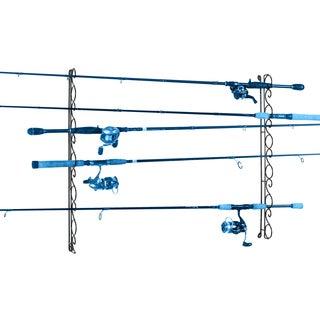 Organized Fishing 9 Capacity Horizontal Wire Ceiling Rack