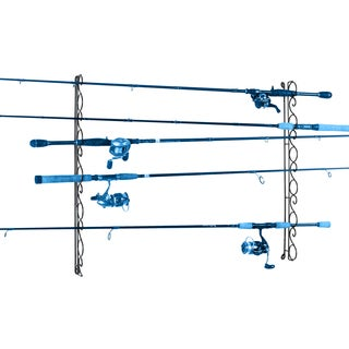 Organized Fishing 9 Capacity Horizontal Wire Ceiling Rack