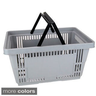 Plastic Shopping Basket with Handles