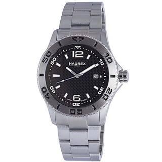 Haurex Italy Men's Factor Unidirectional Bezel Watch|https://ak1.ostkcdn.com/images/products/8840550/Haurex-Italy-Mens-Factor-Unidirectional-Bezel-Watch-P16070878.jpg?impolicy=medium