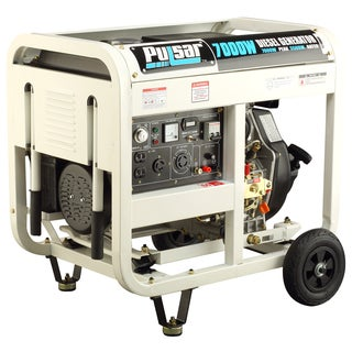 Pulsar Products 7,000-watt Diesel Powered Portable Generator with Electric Start and Open Frame