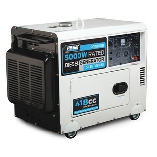 Pulsar Products 7,000-watt Diesel Powered Portable Generator with Electric Start