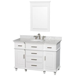 Wyndham Collection Berkeley White 48-inch Single Birch Vanity