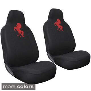 Oxgord Wild Horse High-back Front Chair Seat Covers (Set of 2)