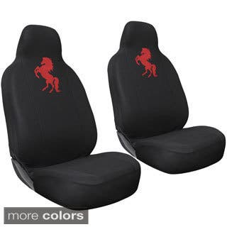 Oxgord Wild Horse High Back Front Chair Seat Covers Set Of 2
