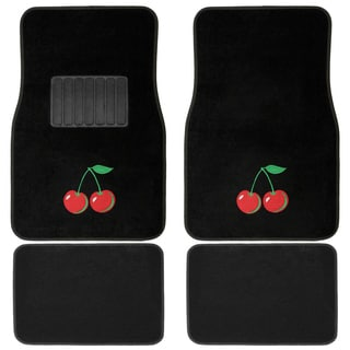 Oxgord Wild Cherries Carpet Floor Mats (Set of 4)