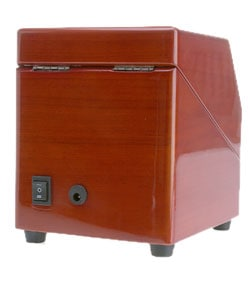 Rocketbox Single Watch Burgundy Finish Winder - Thumbnail 1