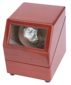 Rocketbox Single Watch Burgundy Finish Winder - Thumbnail 0