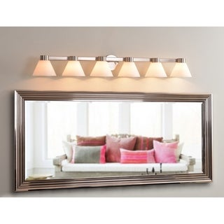 Easton Brushed Steel 6-light Vanity