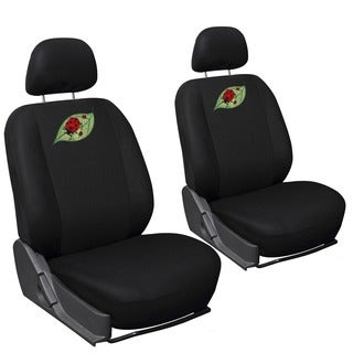 Oxgord Cute Green Leaf/ Red Ladybug 6-piece Seat Cover Set