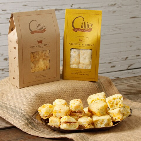 Callie's Cocktail Ham Biscuits and Cheddar Chive Biscuits Bundle