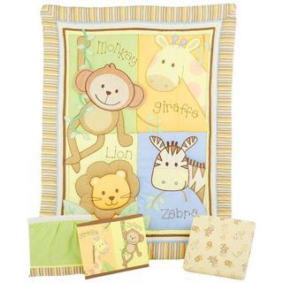 Summer Infant Monkey Jungle 4-piece Crib Bedding Set