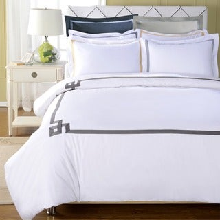 Superior Miller 3-piece Embroidered Cotton Duvet Cover Set