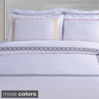 Superior Clayton Embroidered Cotton Sateen Duvet Cover Set (2 options available)
