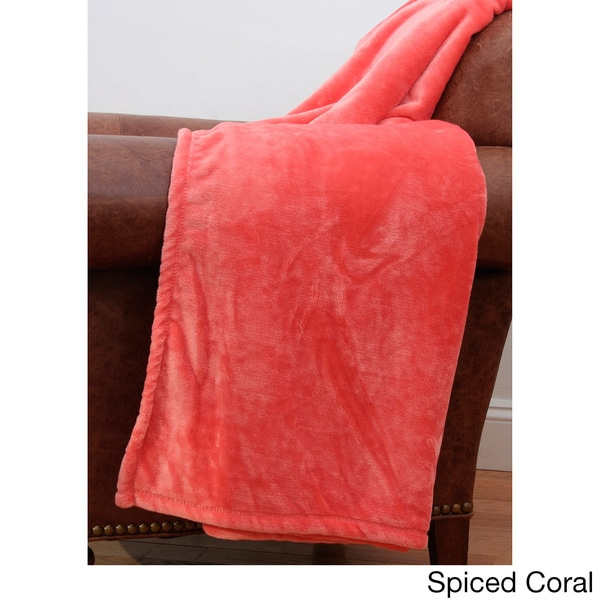 Val Solid Flannel 50 x 60-inch Fleece Throw
