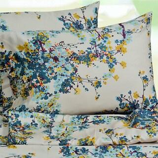 Tribeca Living Casablanca Floral Printed Extra Deep Pocket Sheet Set