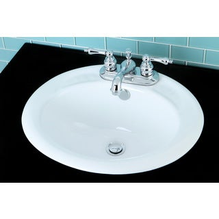 Surface Mount Bathroom Sink and Classical Chrome Faucet Set