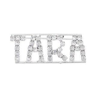 Detti Originals Silver 'TARA' Crystal Name Pin