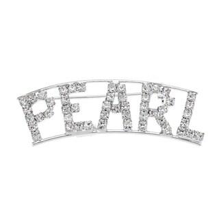 Detti Originals Silver 'PEARL' Crystal Name Pin