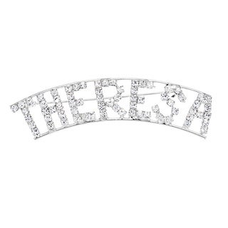 Detti Originals Silver 'THERESA' Crystal Name Pin