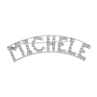 Detti Originals Silver 'MICHELE' Crystal Name Pin