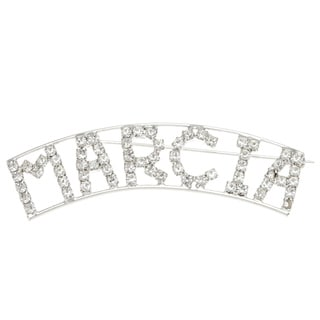 Detti Originals Silver 'MARCIA' Crystal Name Pin