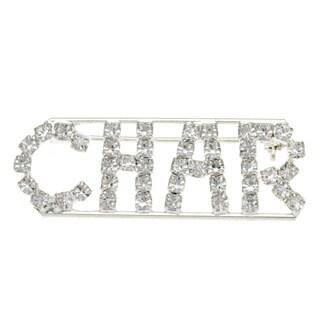 Detti Originals Silver 'CHAR' Crystal Name Pin