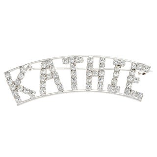 Detti Originals Silver 'KATHIE' Crystal Name Pin